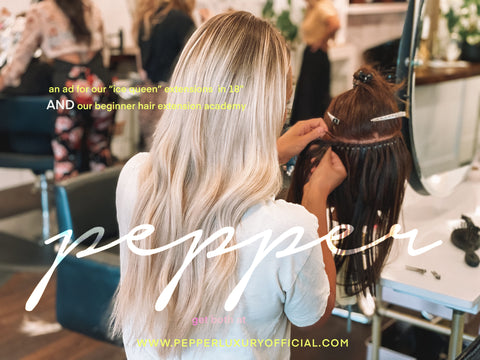 Pepper luxury official hair extensions beginner training course best hair canadian