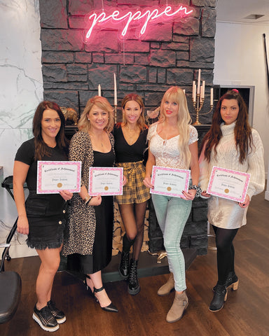 pepper luxury hair extensions academy hair extension training