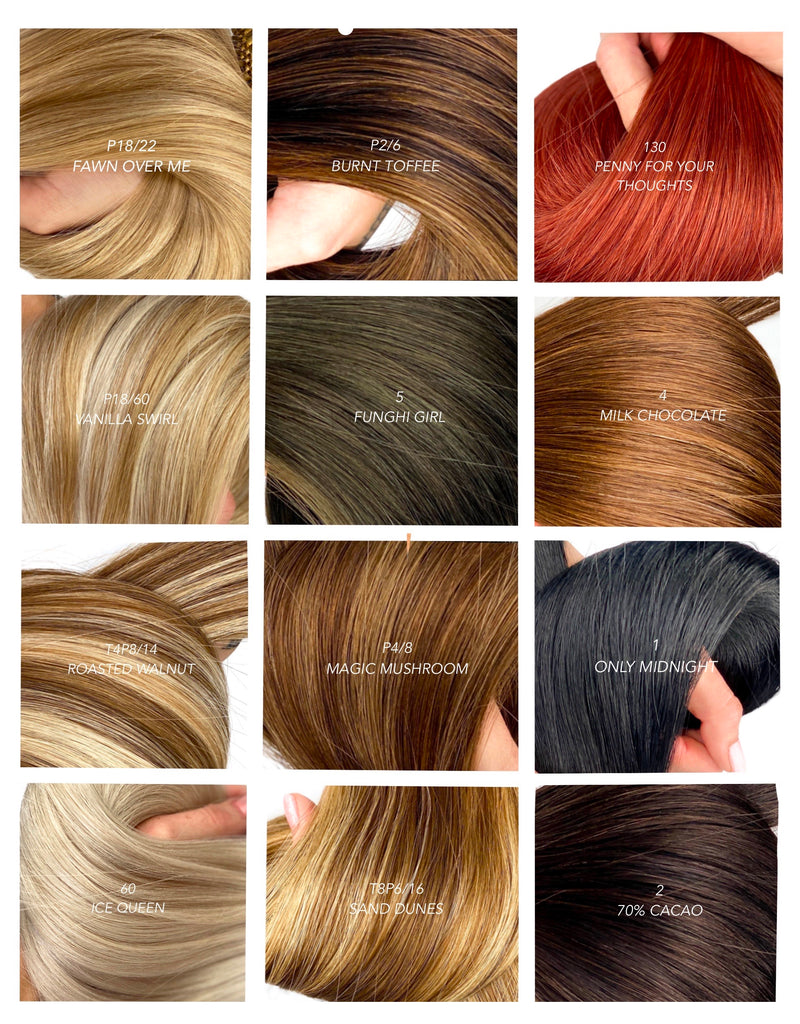 pepper luxury colour chart top quality hair extensions Canadian