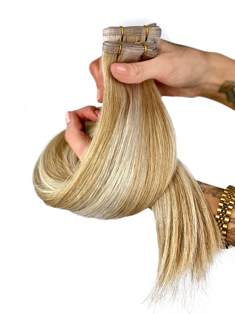 vanilla swirl pepper ribbon weft luxury extensions