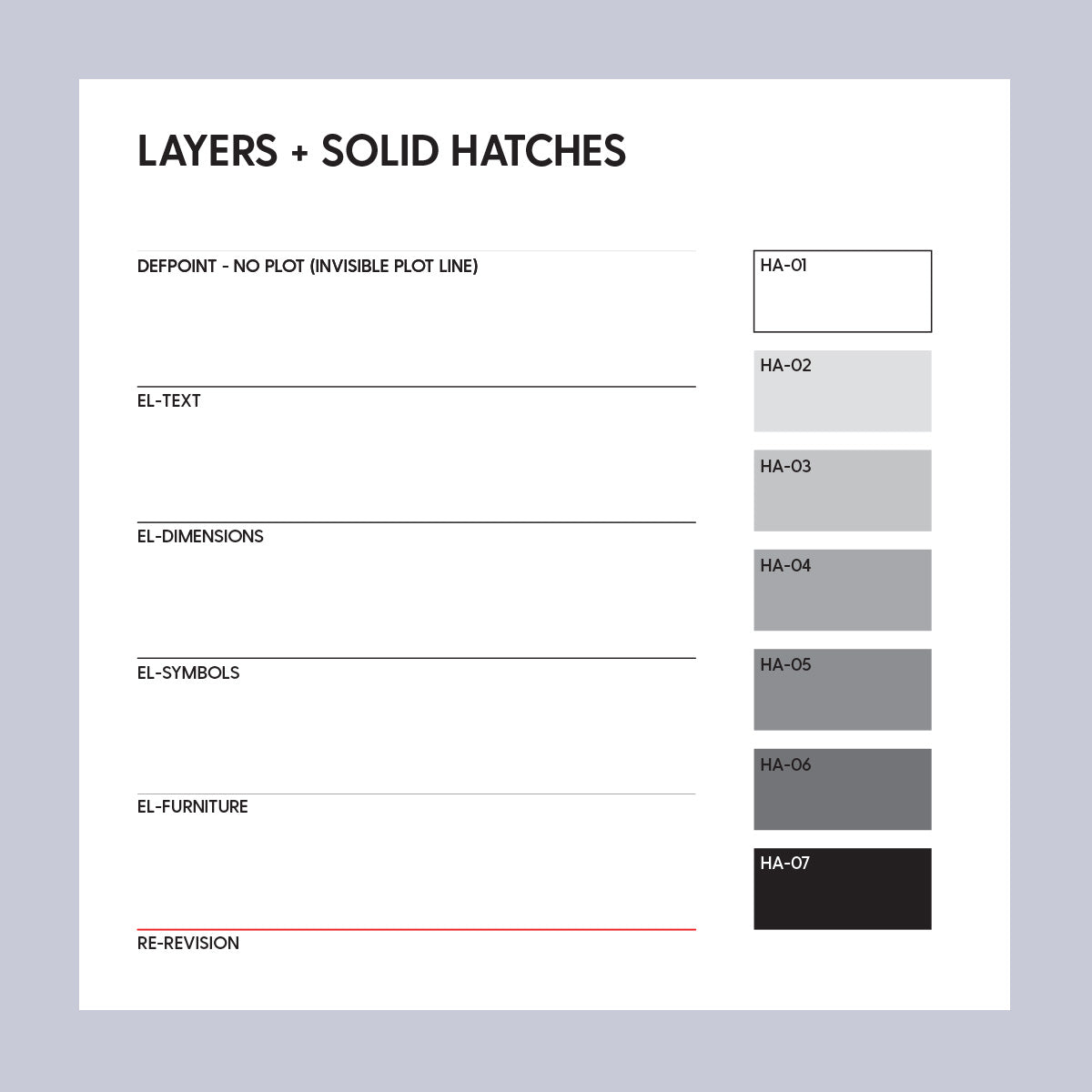 CAD Lineweight & Hatch Template