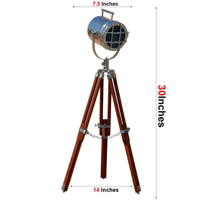 Brown Tripod Home Decor LED Lamp
