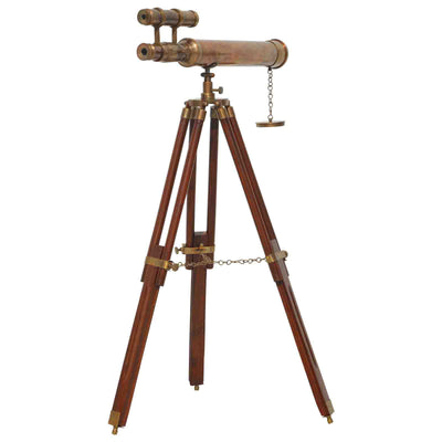 Nautical Antique Brass Telescope