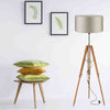 Designer Teak Wood Tripod Floor Lamp
