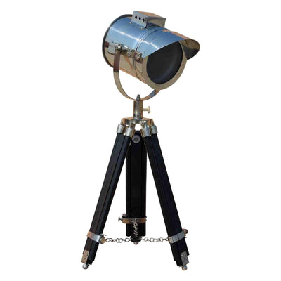 Cap Black Tripod Lamp