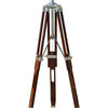 Heavy Metal Wooden Tripod Floor Lamp Shade