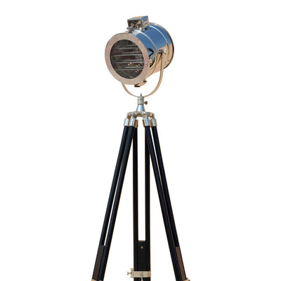 Chrome Finish Stylish Spot Search Light With Black Tripod Home Decor
