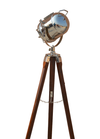 Nautical Brown & Chrome Lamp
