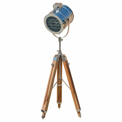 Royal Nauticals Teak Wood Finish Floor Spot Light