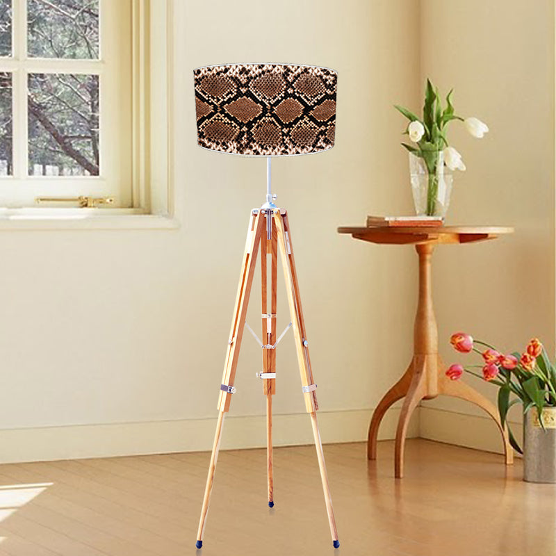 Premium Teak Wood Floor Lamp