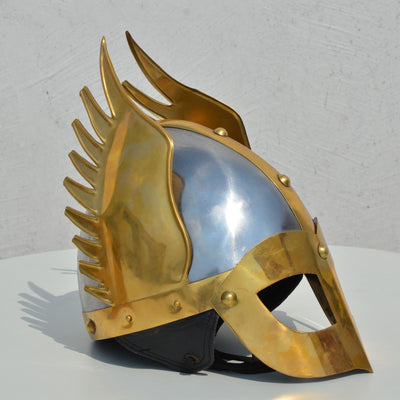Medieval Knight Viking Helmet Armour Winged Norman Fully Wearable With Liner