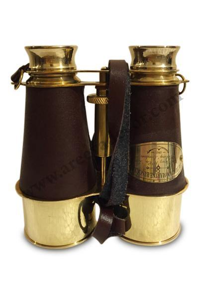 Brass Handmade Binocular With Leather Cover
