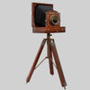 Old Vintage Retro Wooden Film Camera Tripod