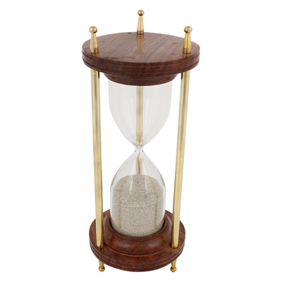 Hourglass Wooden & Brass Sand Timer