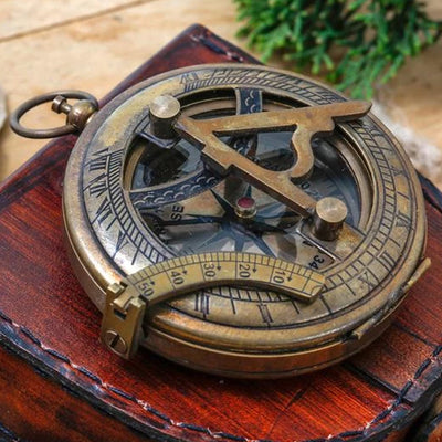 Engraved Compass Personalized Sundial Compass Nautical Gift Nautical Decor