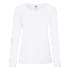 Ladies Valueweight L/S T