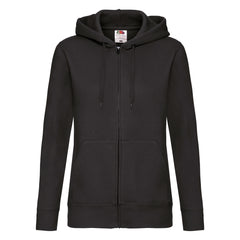 Ladies Zip Thru Hooded Sweat
