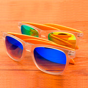 Design Sunglasses Transparent Plastic & Bamboo Frame