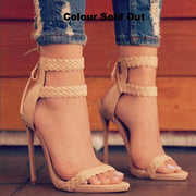 Ankle Weaving Strap High Heel Sandals