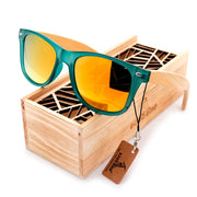 Polarised  Bamboo  Sunglasses with Wood Holder