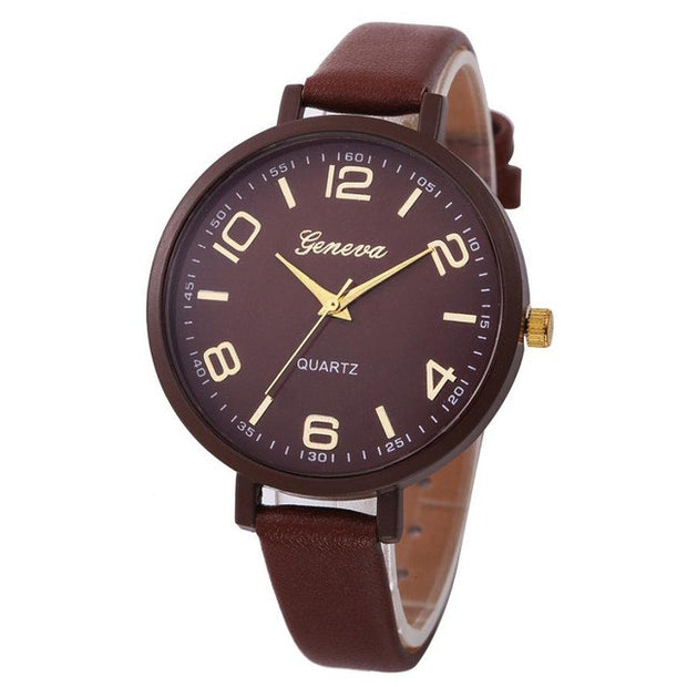 Women's watches with PU Leather strap.