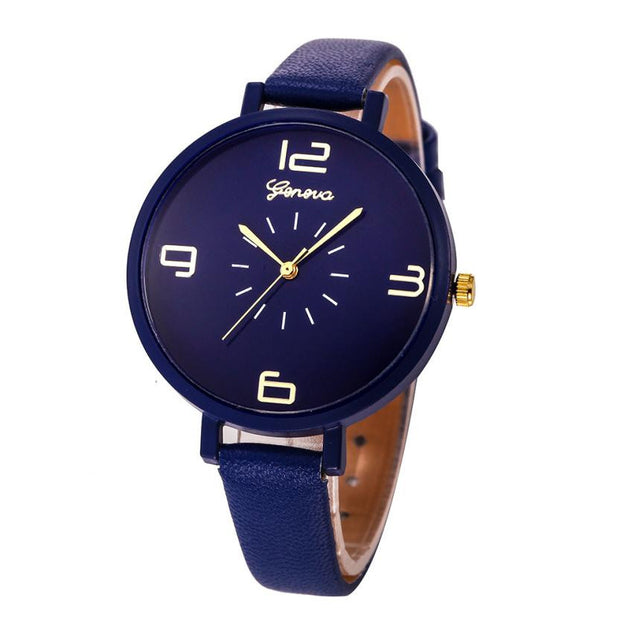 Elegant Watch PU Leather Strap