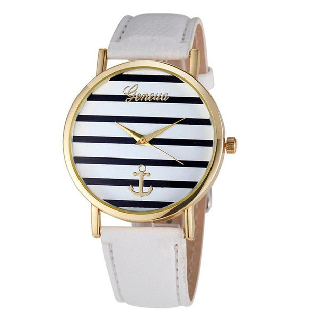 Women watch with a striped & anchor face