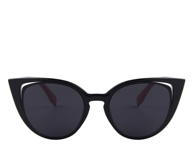 Retro Pierced Cat Eye Sunglasses