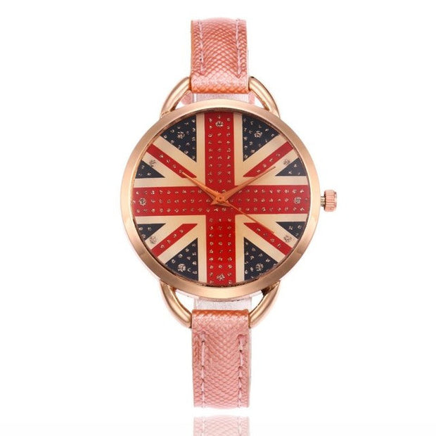 Funky watch with british flag design