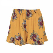 Elastic Floral pleaded shorts