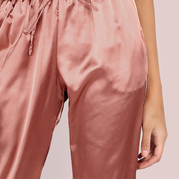 Satin Luxe Pants with Drawstring Waist