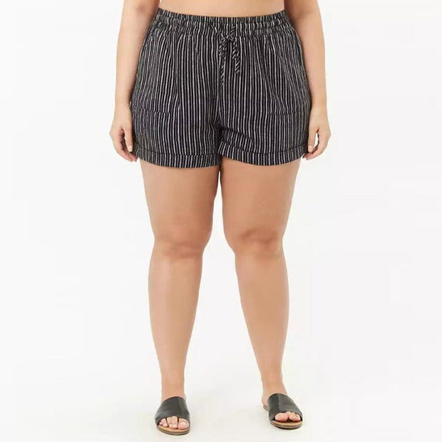 Striped Plus Size Shorts