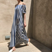 Summer Bohemian Casual Striped Plus Size Dress