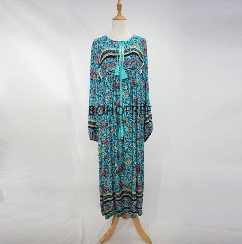BOHO Plus Size Botanic Maxi Dress