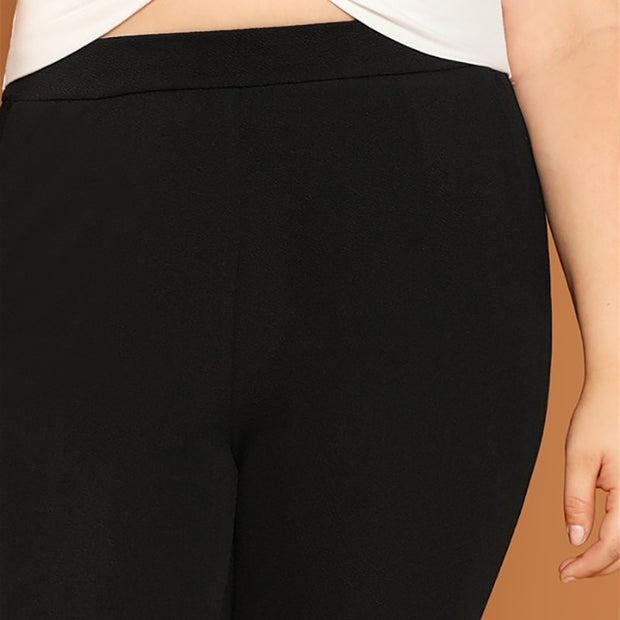 Black Plus Size Skinny Pants