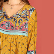 Bohemian Ginger Plus Size Blouse