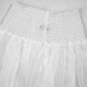 Mesh dot long skirt with Elastic Band
