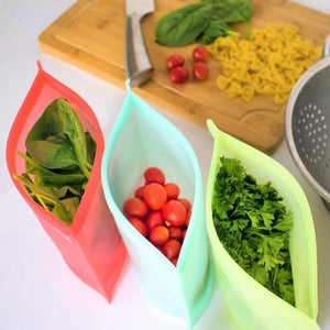 Reusable Silicone Preservation Airtight Seal Food Bag - 21.59cm x 17.78cm