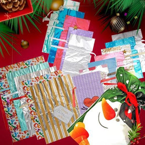 ⏰LAST DAY PROMOTION 50%OFF- Drawstring Christmas Gift Bags (15PCS)-Environmental Materials Biodegradable