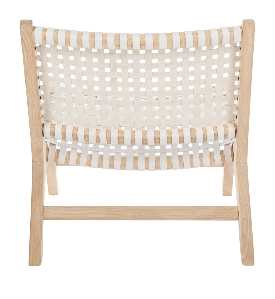 NEW Woven Accent Chair in White
