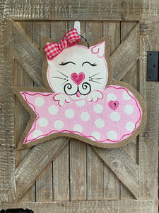Kitty Cat Love Door Hanger