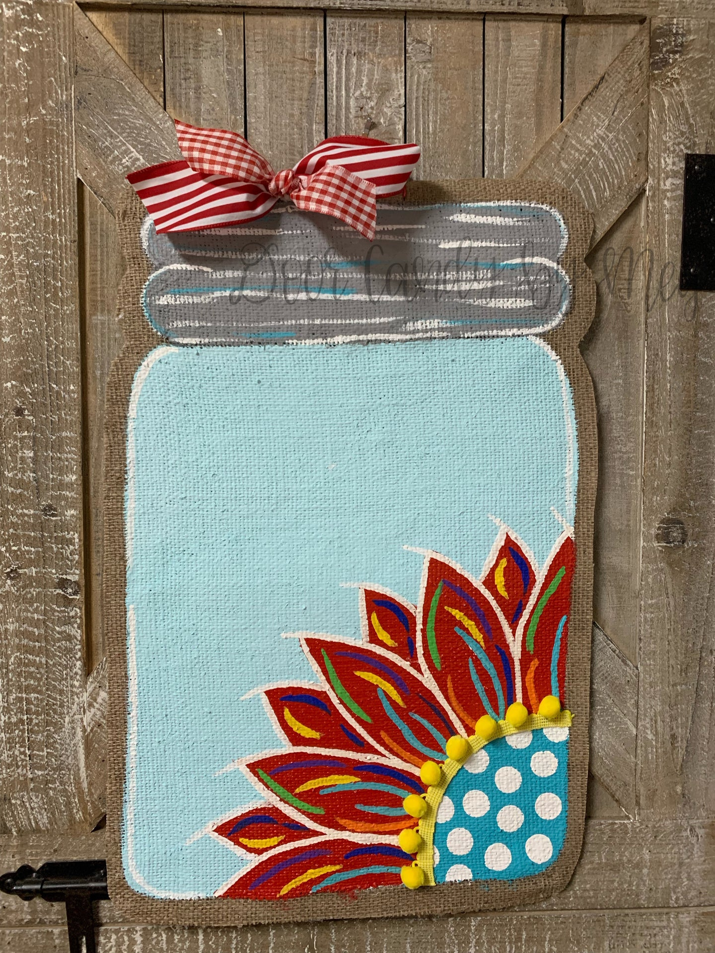 burlap sunflower door hanger, sunflower door hanging, sunflower hospital door hanger
