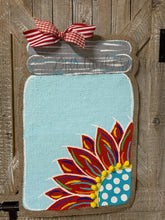Load image into Gallery viewer, burlap sunflower door hanger, sunflower door hanging, sunflower hospital door hanger
