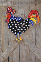 Load image into Gallery viewer, Painted Rooster Door Hanger - Small