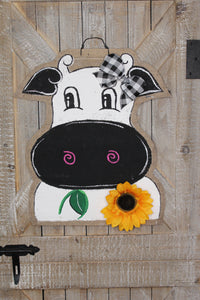 cow head door hanger, burlap door hanger, doorcandybymeg, farm door hanger, farmhouse door hanger, farm door hanger, cow hospital door hanger