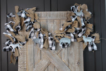 Load image into Gallery viewer, Farm Animal Buffalo Check Tied Garland
