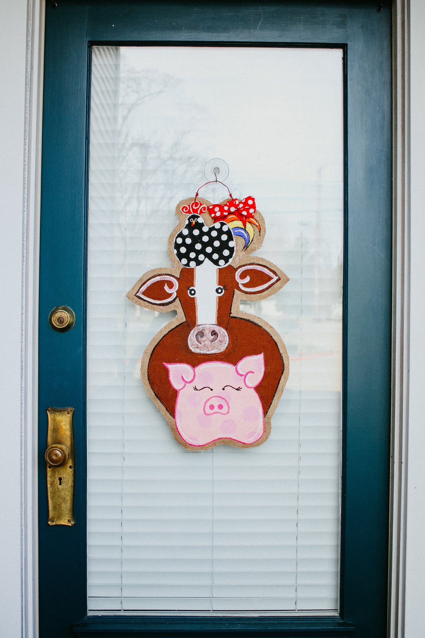 Chicken Pig Cow Door Hanger - DoorCandybyMeg Farm Animal Door Hanger