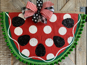 Large Watermelon Slice Door Hanger