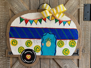 Camper Door Hanger in Red/Blue/Yellow