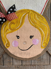 Load image into Gallery viewer, Whimsical Nurse Door Hanger - Blonde Hair